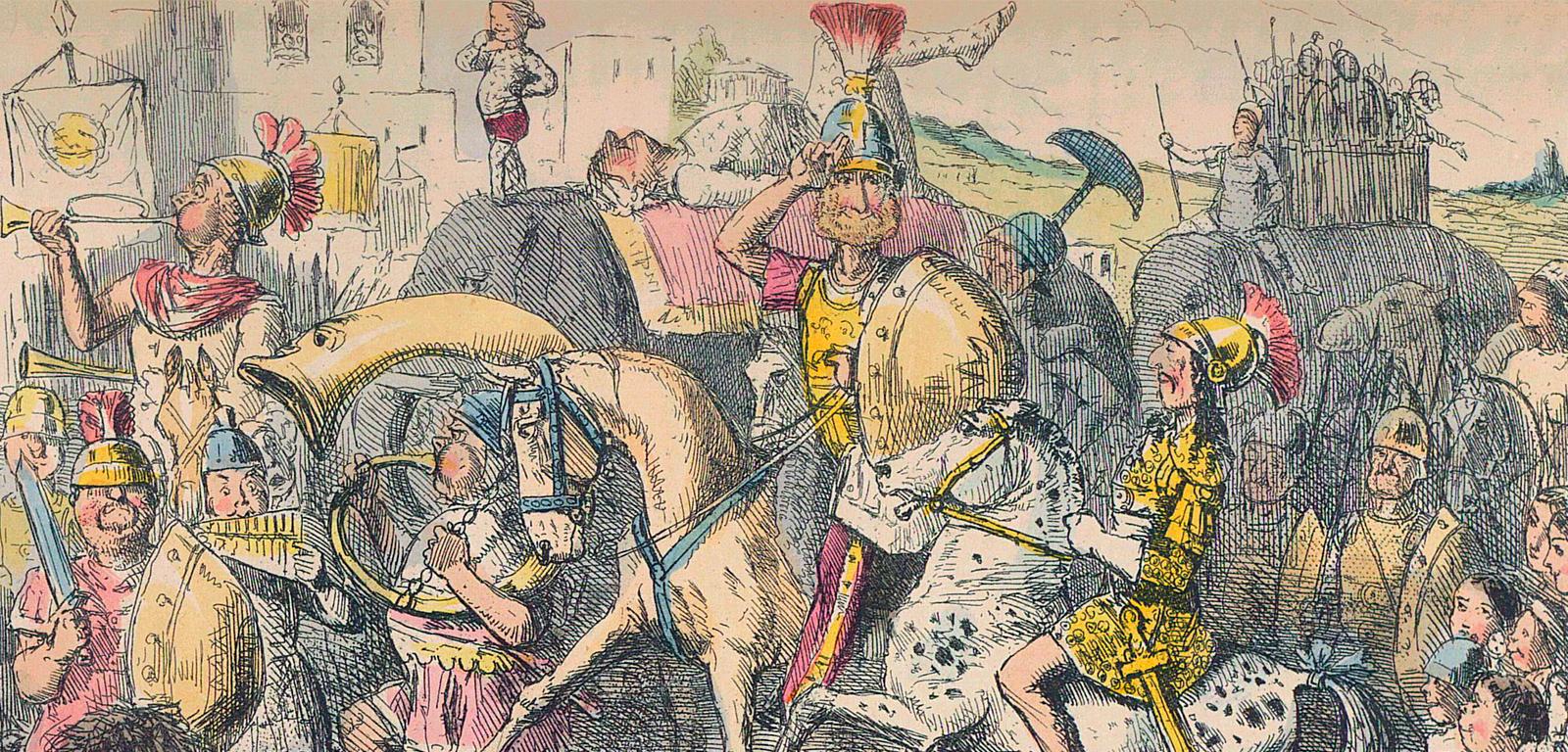 Pirro llega a Italia con sus tropas