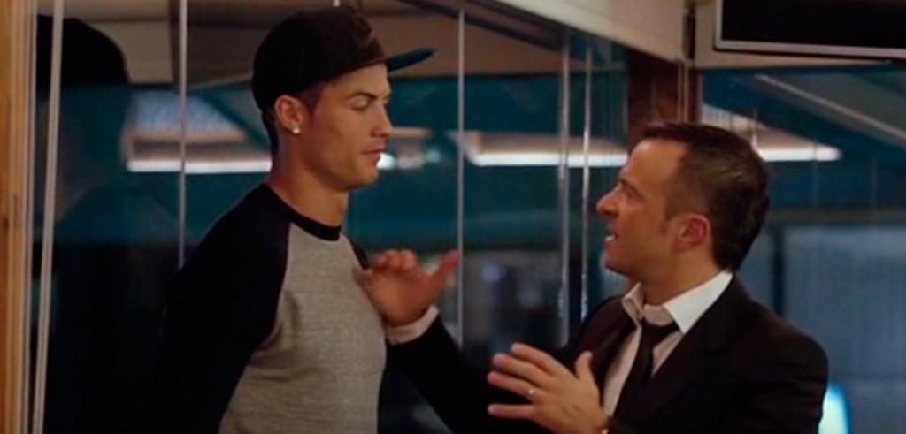 Cristiano Ronaldo y su agente, Jorge Mendes