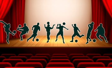 Futbolistas en el teatro