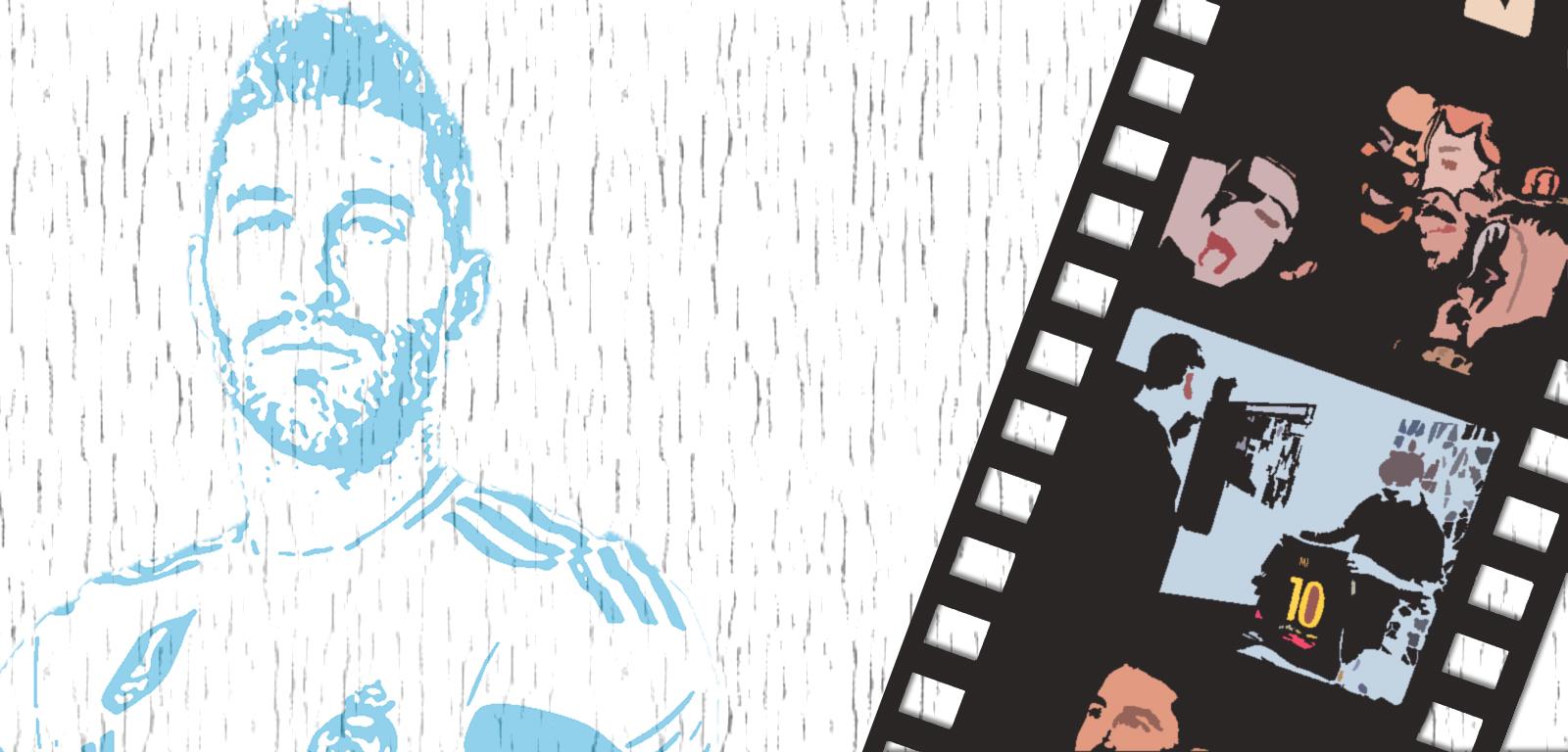 Sergio Ramos con imágenes de 'El corazón de Sergio Ramos' / FOTOMONTAJE DE PdF