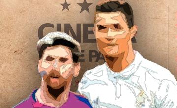 Messi y Ronaldo ante una entrada de cine / FOTOMONTAJE DE PdF