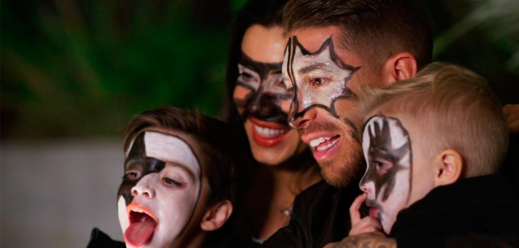 Sergio Ramos con Pilar Rubio y sus hijos Sergio y Marco