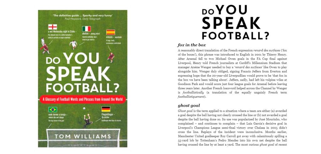 'Do you speak football?'