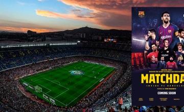 El Camp Nou y el cartel de 'Matchday'