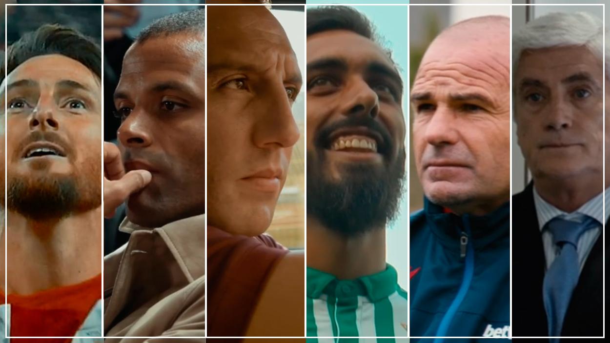 De izquierda a derecha, los protagonistas de 'Six Dreams 2': Aritz Aduriz, Maheta Molango, Santi Cazorla, Borja Iglesias, Paco López y Clemente Villaverde / FOTOMONTAJE DE PDF