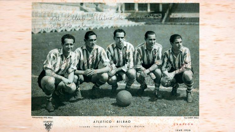 Iriondo, Venancio, Zarra, Painzo y Gainza / ATHLETIC CLUB