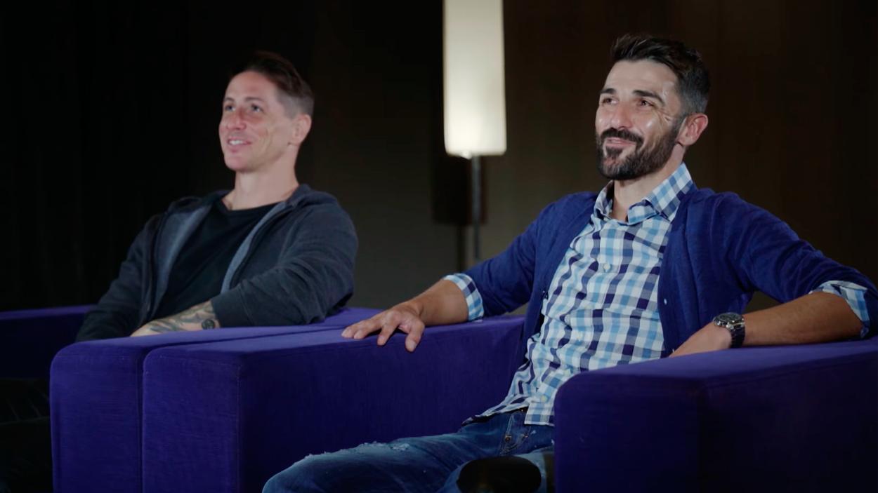 Los exfutbolistas Fernando Torres y David Villa / PRIME VIDEO