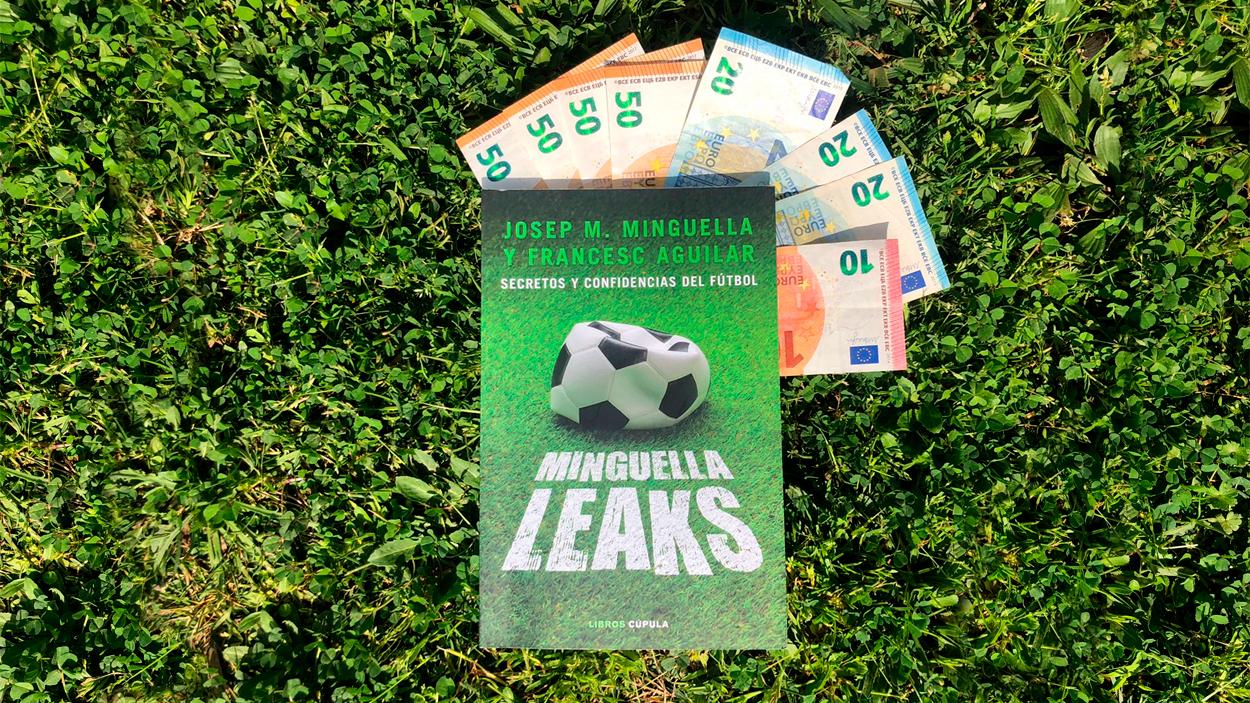 El libro 'Minguella Leaks', con varios billetes de euro / PdF