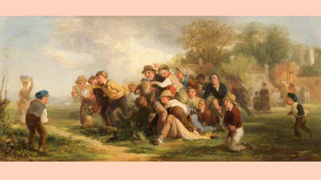 'The Football Game', de Thomas Webster