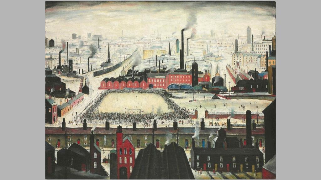 'The Football Match', de L. S. Lowry