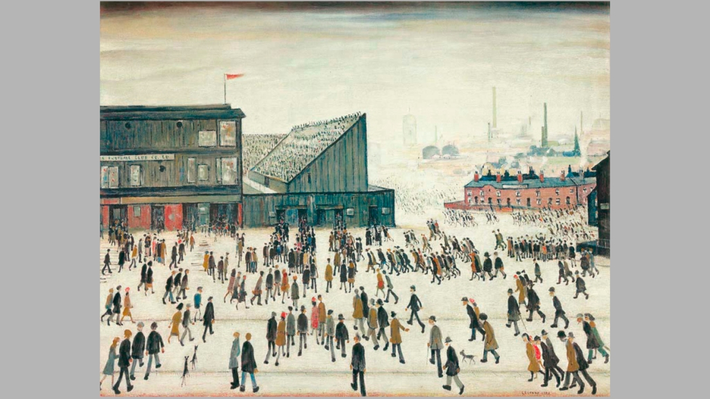 'Going to the Match', de L. S. Lowry