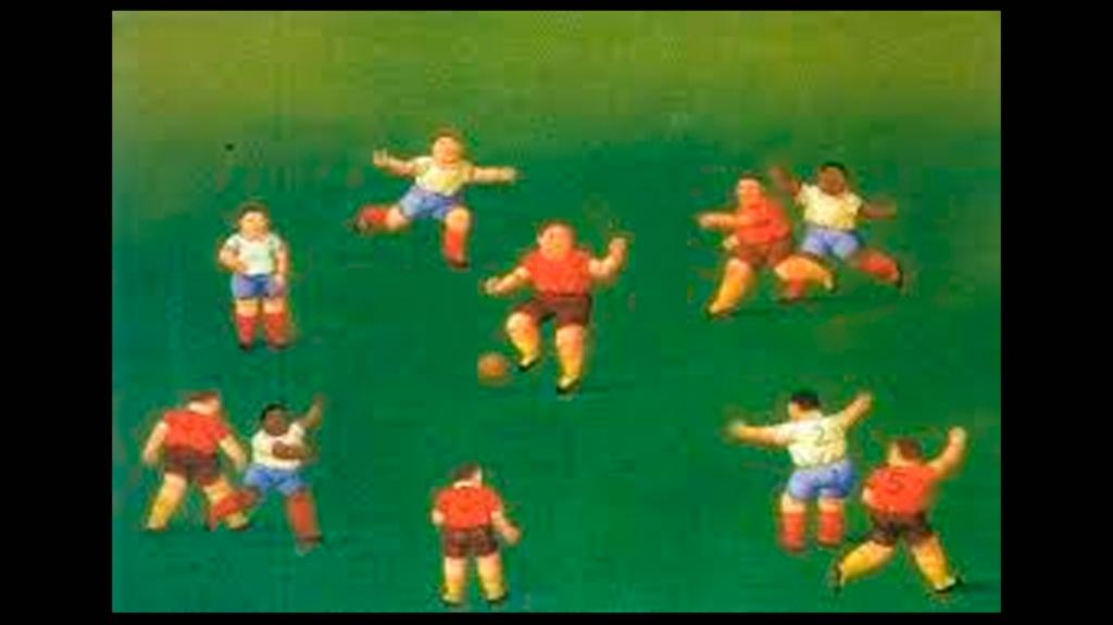 'Niños jugando al fútbol', de Fernando Botero