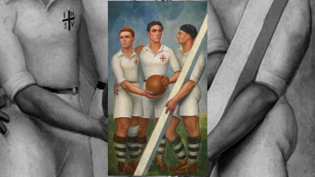 'Tres futbolistas', de Ángel Zárraga