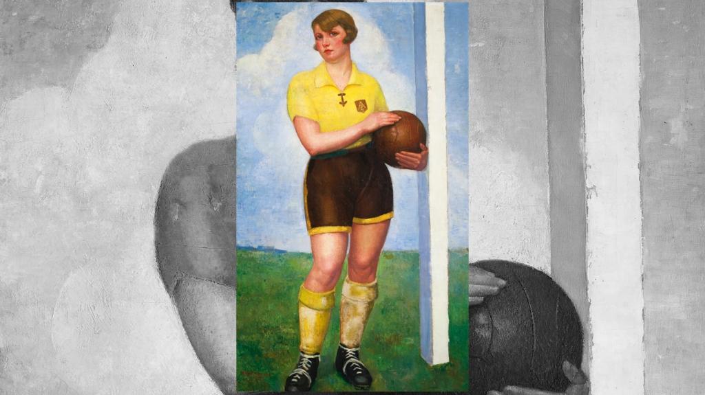 'La futbolista rubia', de Ángel Zárraga