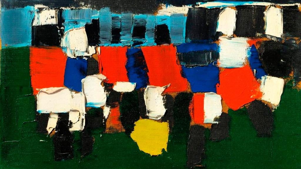 'Les Footballeurs (Parc des Princes)', de Nicolas de Staël