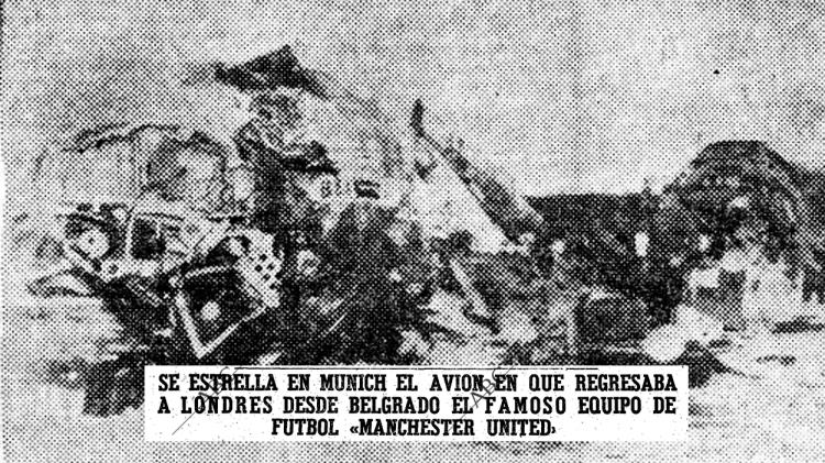 El avión del Manchester United siniestrado en Múnich / 'EL MUNDO DEPORTIVO'