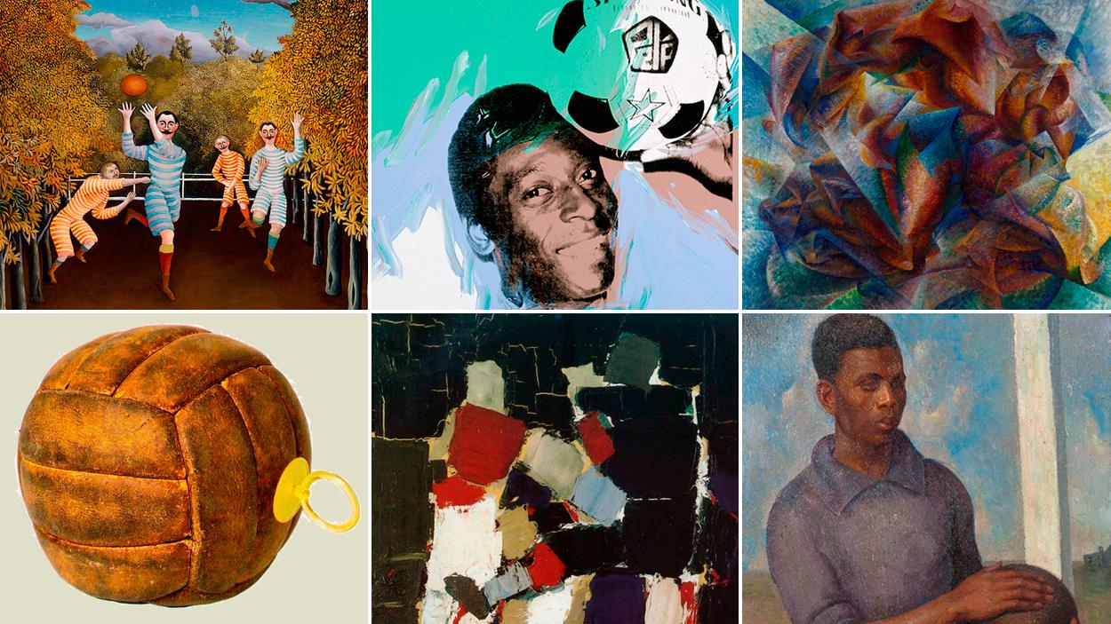 Seis obras de arte relacionadas con el fútbol / FOTOMONTAJE DE PdF