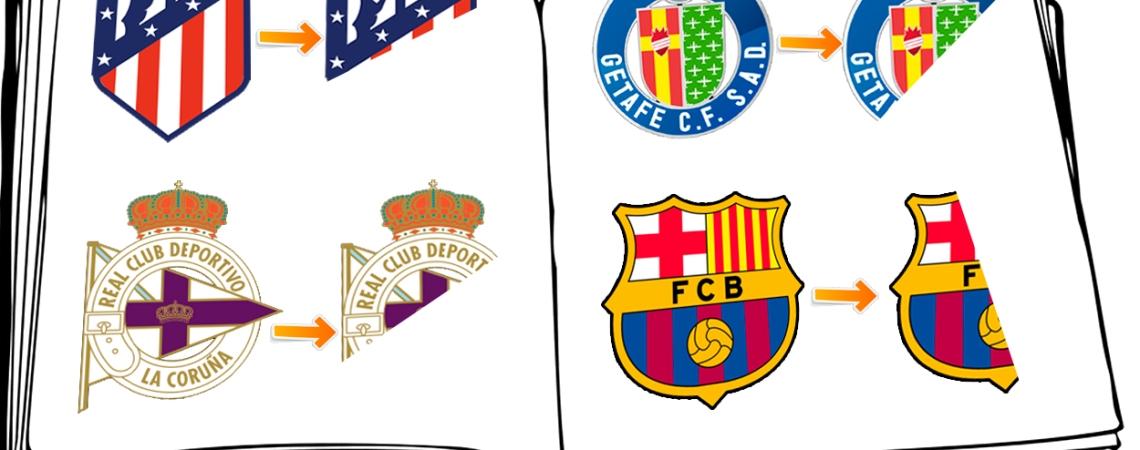 Atlético, Getafe, Deportivo y Barcelona, acortados / FOTOMONTAJE DE PdF