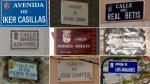 Calles de España con nombres de futbolistas y equipos