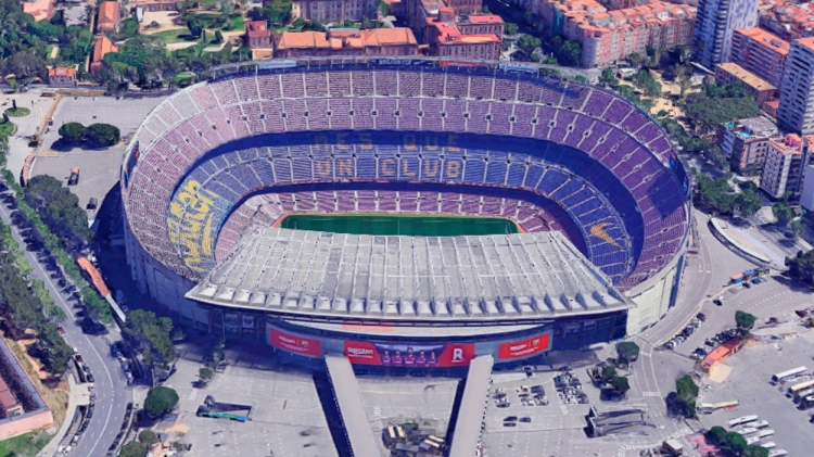 Camp Nou / GOOGLE MAPS