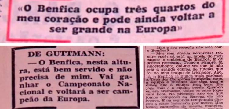 Bela Guttmann dijo que el Benfica volvería a ser campeón de Europa, 1963, 1966 y 1974 / A BOLA - MUNDO DESPORTIVO