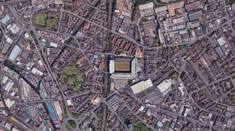 St. Andrews, estadio del Birmingham / GOOGLE MAPS