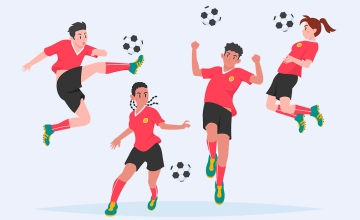 Cuatro futbolistas / PIKISUPERSTAR - FREEPIK