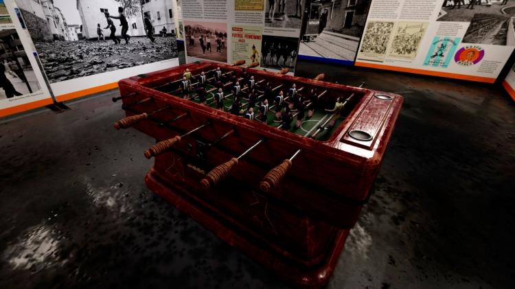 Futbolín en la exposición 'Barcelona & fútbol' / PdF