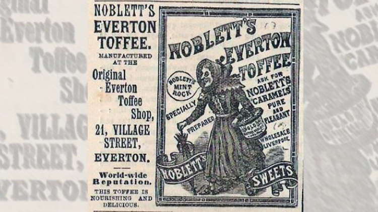 Anuncio de los caramelos Noblett / FOODS OF ENGLAND